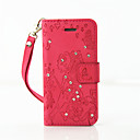 Buy iPhone 5 Case Wallet / Rhinestone Stand Flip Embossed Full Body Butterfly Hard PU Leather SE/5s/5