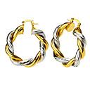Buy 18K Gold/Silver Plated Two Colors Rope Shape Women Hoop Earrings New Trendy Jewelry E10115