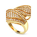 Buy Unique Designed Women Deluxe Party Rings Cubic Zircon Lead Free Low Cadmium Bridal Wedding Fashion Brass Accessories