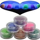 Buy 1 Set Nail Art Beautiful Noctilucent Powder Colorful Color Glitter Shining Beauty Decoration YG07-12