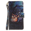Buy Painted Owl Pattern Card Can Lanyard PU Phone Case Huawei P9 Lite P8