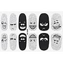 Buy Fashion Expression Style Glitter Silver Black Nail Decal Art Sticker Gel Polish Manicure