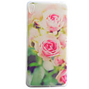 Buy Pink Flowers Pattern Material TPU Phone Case Sony Xperia E5 XA