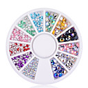 Buy 202mm 4mm 3D Nail Art Tips Gems Crystal Glitter Sharp End Rhinestone DIY Decoration Wheel
