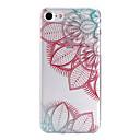 Buy Painted Diagonal Flower Pattern Transparent TPU Material Phone Case iPhone 7 Plus 6s 6 SE 5s 5