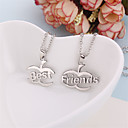 Buy 2 Pcs/Set Europe Fashion Pendant Necklaces Best Friends Necklace Silver Plated Link Chain Jewelry Gifts