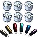 Buy 6 Pcs/Set Mirror Nail Glitter Powder Dust DIY Art Sequins Chrome Pigment Decorations Colors