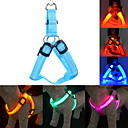 Buy Dog Harness LED Lights / Adjustable/Retractable Safety Solid Red Green Blue Pink Yellow Orange Nylon