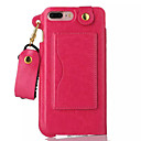 Buy iPhone 7 Case / Plus 6 Card Holder Stand Back Cover Solid Color Hard PU Leather Apple