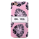 Buy iPhone 7 Plus 6s 6 Case Cover Leaf Pattern IMD Process Thickening Classic Scratch-Resistant TPU Material Phone