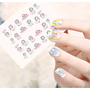 Buy Water Transfer Nail Art Stickers Fashion Mickey Lovely Cat Flower Dog Design STZ36-40