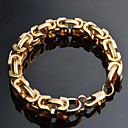 Buy Men's Chain Bracelet Gold Plated 18K gold Fashion Geometric Jewelry 1pc