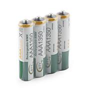 BTY 1.2V 1350mAh Recargable Ni-MH AAA Batería 4.0 pcs