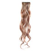 3 piezas sintéticas clip en extensiones de cabello rizado con 2 clips - 4 colores disponibles