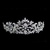 여성 라인석 합금 투구-웨딩 왕관