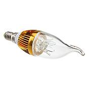 Bombillas Vela Decorativa CA35 E14 3 W 3 LED de Alta Potencia 270 LM Blanco Cálido AC 85-265 V