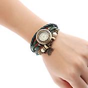 아가씨들 패션 시계 팔찌 시계 석영 밴드 나비 보헤미안 참 블랙 레드 오렌지 브라운 그린