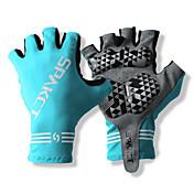 SPAKCT S13G03 튼튼한 폴리 에스테와 순환 자전거 - 블루에 대한 Vinylal 재료 절반 손가락 장갑 디자인