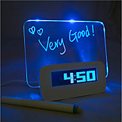 4 USB 포트 허브와 메시지 보드 푸른 빛을 디지털 알람 시계 (USB)