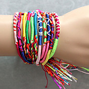 Colored woven bracelets