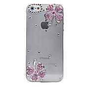 용 아이폰5케이스 투명 / 엠보싱 텍스쳐 케이스 뒷면 커버 케이스 꽃장식 하드 PC iPhone SE/5s/5