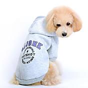 Gatos / Perros Saco y Capucha Rojo / Gris Ropa para Perro Invierno / Primavera/Otoño Letra y Número Adorable / Deportes