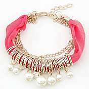 (1 Pc)Fashion 45cm Women's  Lace Friendship Bracelet(Red, Blue, Black, White, Pink, Orange)
