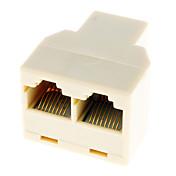 2 LAN 네트워크 케이블 Y 쪼개는 도구 증량제 마개에 RJ45 1