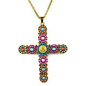 비즈 수제 예수님 십자가 보헤미안 스타일의 펜던트 necklacenl-2101a, B, C, D, E