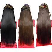 5 클립과 합성 스트레이트 머리 연장 25 인치 클립 (분류 된 3 개의 색깔)