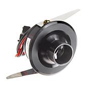 1W 110LM 8000-10000K 찬 백색 빛 LED 미러 포도주 내각 램프 블랙 (AC 90-240V)