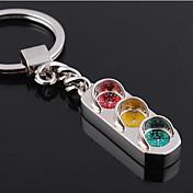 개인 새겨진 선물 신호등 스타일 열쇠 고리