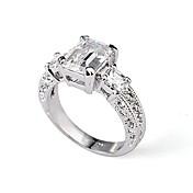 여성 문자 반지 크리스탈 의상 보석 도금 골드 모조 다이아몬드 보석류 제품 결혼식 파티 캐쥬얼