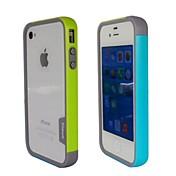 iPhone4S를 (노랑 + 파랑)를위한 유행 두 배 색깔 TPU 프레임 범퍼