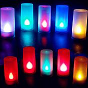다채로운 촛불 모양의 불꽃 복근 축제 크리스마스 할로윈 밤 빛