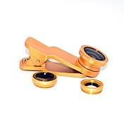 lente de gran angular de la lente del ojo de pez del metal 1x universal para la galaxia s8 s7 de samsung del iphone 8 7