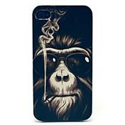 아이폰 4/4S를위한 흡연 원숭이 패턴 하드 케이스