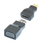 VGA 영상 변환기 접합기에 1에서 2 1080P 미니 HDMI / HDMI