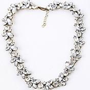 여성 물가 목걸이 합금 모조 다이아몬드 탄생석 화이트 보석류 결혼식 파티 일상
