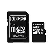 kingston clase microSDXC 16gb tarjeta de memoria flash de 10 con adaptador SD
