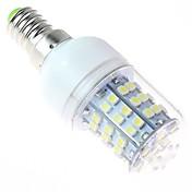 bombilla LED de luz blanca, e14 4w 60smd3528 5500-6500k 220v