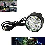헤드램프 자전거 라이트 자전거 전조등 LED Cree XM-L T6 싸이클링 충전식 앵글헤드 18650 7000 루멘 배터리 캠핑/등산/동굴탐험 사이클링 사냥 여행 드라이빙 등산-Marsing
