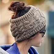 여성의 중공 털 모자
