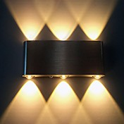AC 85-265 6W LED Integrado Moderno/Contemporáneo Cepillado Característica for LED,Luz Ambiente Luz de pared