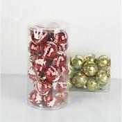 드롭 전기 도금 공을 매달려 24 개 크리스마스 장식 (φ = 7cm)
