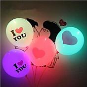 globos de iluminación del día de san valentín comodo te quiero llevado luminoso globo de corazón gigante (color al azar)