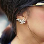 여성용 스터드 귀걸이 신부 유럽의 개인 보석 모조 다이아몬드 Leaf Shape 보석류 용 결혼식 파티 일상