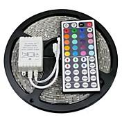 z®zdm 방수 5m 72w 300x5050 rgb smd 빛 led 스트립 빛 44key ir 원격 컨트롤러 키트 (dc12v)