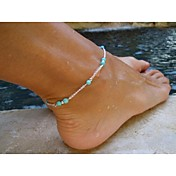 Elegant Womens Bead Charm Metal Chain Anklet Bracelet Foot Sandal Beach Jewelry