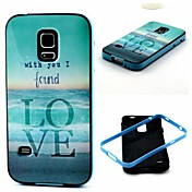 용 삼성 갤럭시 케이스 충격방지 / 패턴 케이스 뒷면 커버 케이스 단어 / 문구 TPU Samsung S5